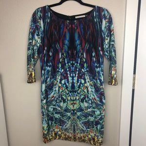 Rhyme & Echo Kaleidoscope Printed Dress Size XS